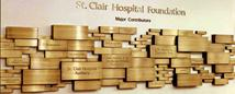 Donor Wall with etched Muntz Metal plaques