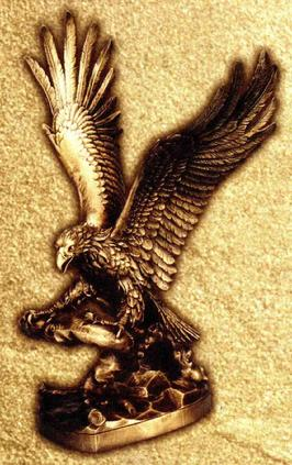 Cast bronze American Eagle