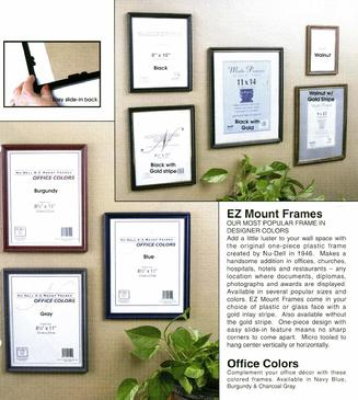 Nu-Dell EZ Mount Frames, Office Colors Frames