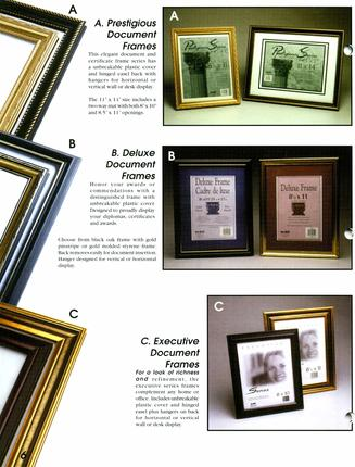 Nu-Dell Document Frames